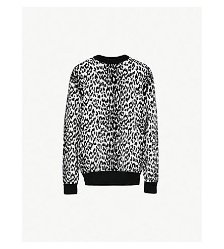 GIVENCHY 豹纹羊毛混纺毛衣 (黑/白