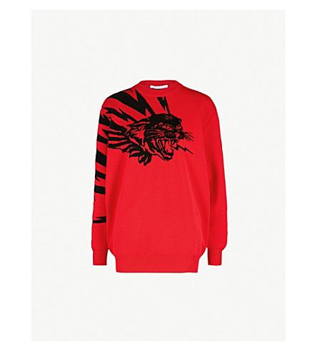 GIVENCHY Jaguar wool jumper (Red