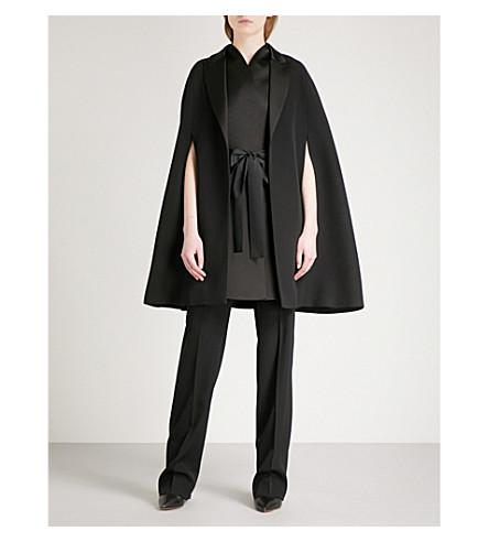 GIVENCHY Waistcoat-panel wool cape (Black