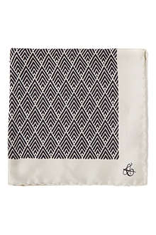 CANALI Art deco pocket square