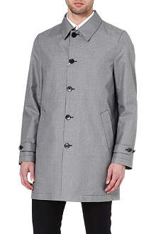CANALI Micro-houndstooth raincoat