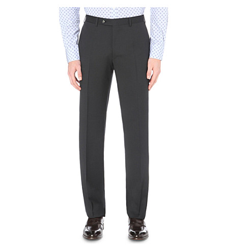 CANALI Regular-fit straight wool trousers (Navy