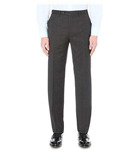 CANALI 常规版型直羊毛长裤 (灰色