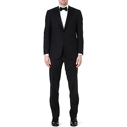 CANALI Wool and mohair-blend suit (Black