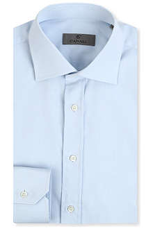 CANALI Regular-fit spread-collar shirt