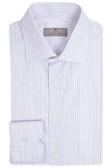 CANALI Pastel striped spread-collar single-cuff shirt