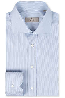CANALI Modern-fit hairline stripe shirt