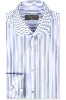 CANALI Multi-stripe regular-fit shirt
