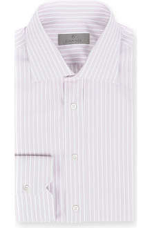 CANALI Striped regular-fit single-cuff shirt