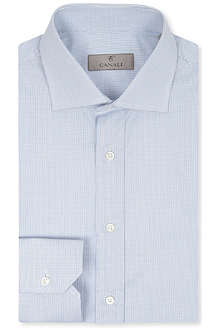 CANALI Micro graph check shirt