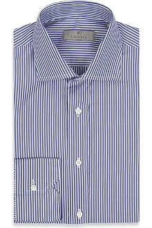 CANALI Mid stripe cotton shirt