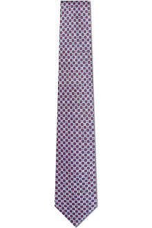 CANALI Stylised floral silk tie