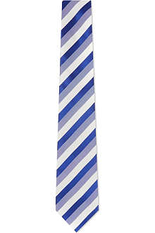 CANALI Double stripe silk tie