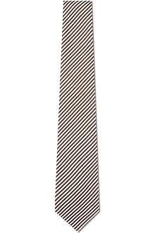 CANALI Thin striped silk tie