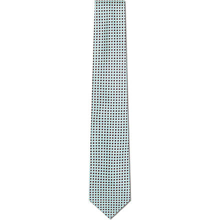 CANALI Geometric circles silk tie (Mint