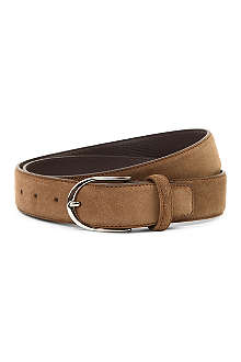 CANALI Buckled suede belt