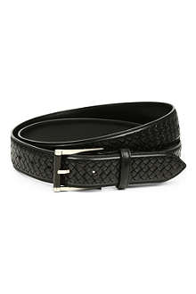 CANALI Woven-effect leather belt