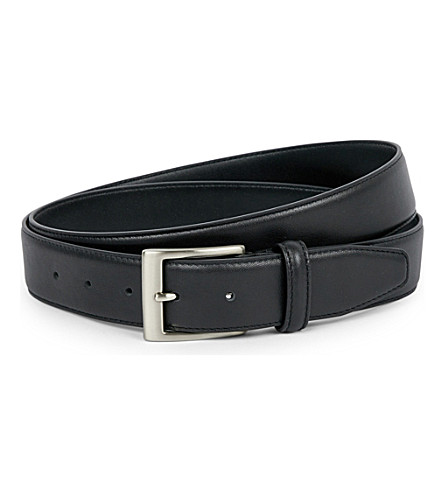 CANALI Leather belt (Black