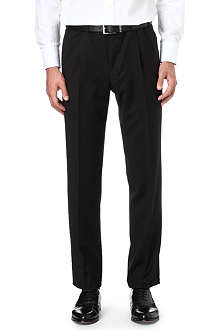 CANALI Pleated wool trousers