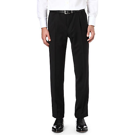 CANALI Pleated wool trousers (Black