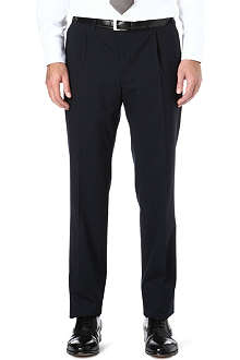 CANALI Stretch-wool regular-fit trousers