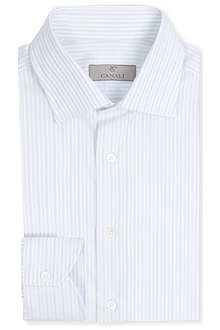 CANALI Modern-fit single-cuff cotton shirt