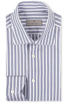 CANALI Multi-stripe cotton shirt