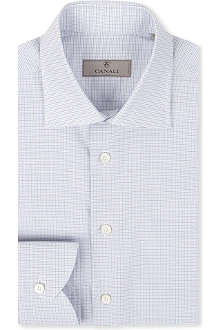 CANALI Graph check cotton shirt