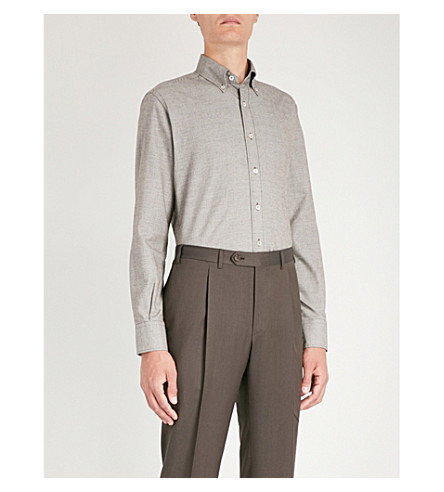 Checked fit cotton Checked CANALI regular regular fit cotton Brown CANALI shirt an8w0RE8q