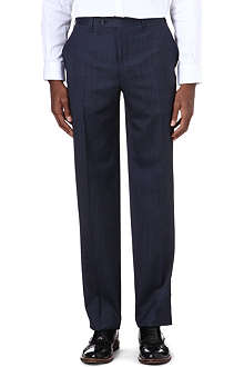CANALI Wool and silk-blend trousers