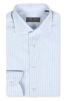 CANALI Modern-fit striped shirt