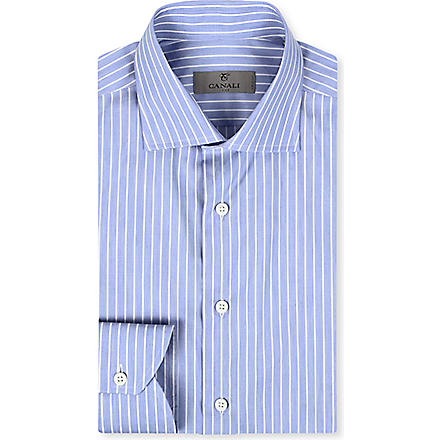 CANALI Modern-fit stripe shirt (Blue
