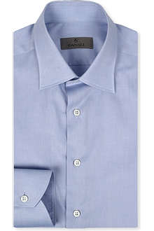 CANALI Modern-fit cotton-twill shirt