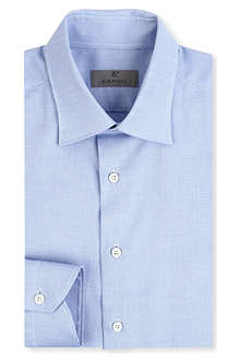 CANALI Modern-fit geometric shirt