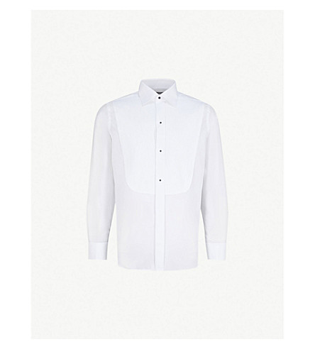 CANALI Marcella regular-fit cotton evening shirt (White