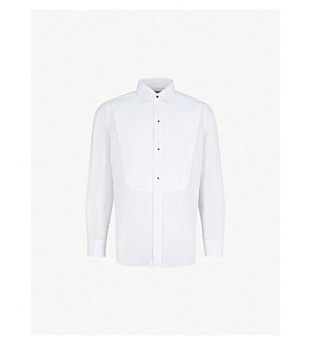CANALI 玛塞拉常规版型棉晚衬衫 (白色