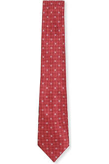 CANALI Flower diamond silk tie