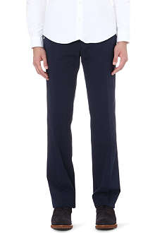 CANALI Straight stretch-cotton trousers