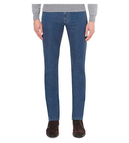 CANALI Regular-fit straight denim jeans (Blue