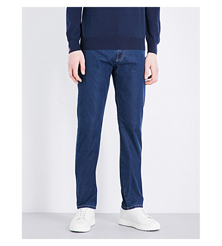 CANALI 常规版型直穿牛仔牛仔裤 (靛蓝