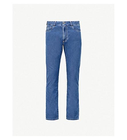 CANALI 常规版型直牛仔牛仔裤 (淡 + 蓝