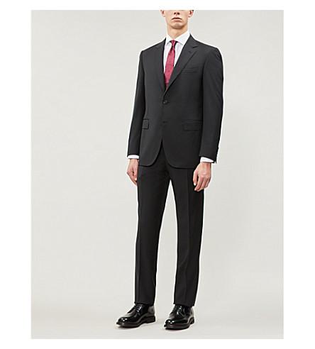 CANALI Birdseye regular-fit wool suit (Brown
