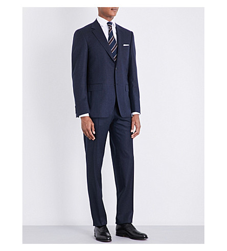 CANALI Tailored-fit wool suit (Navy