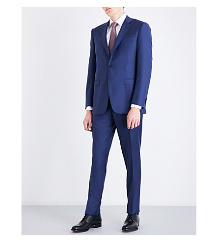 CANALI Slim-fit wool suit (Blue