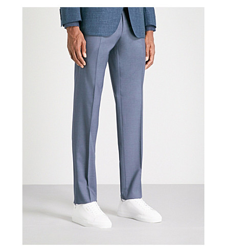 CANALI Regular-fit wool trousers (Blue