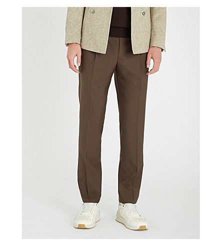 CANALI Regular-fit wool trousers (Brown