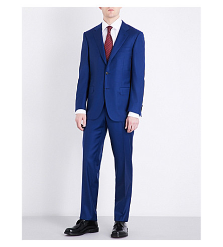 CANALI Soho-fit wool-twill suit (Bright+blue