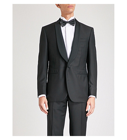 CANALI Slim-fit wool tuxedo jacket (Black