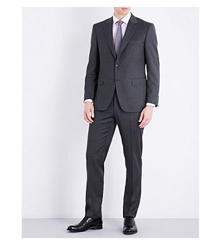 CANALI Nailhead tailored-fit wool suit (Mid+grey