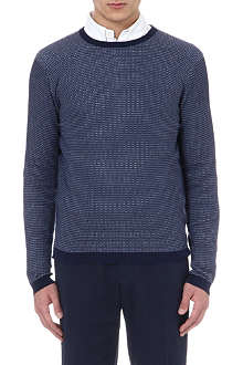 CANALI Micro dot cotton jumper